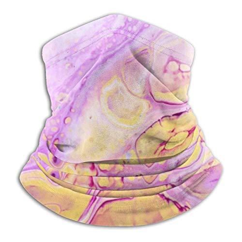 senob Acryl Verf Achtergrond Met Roze Poeder Hoofddeksels Hals Gaiter Warmer Winter Ski Tube Sjaal Masker Fleece Gezicht Cover Winddicht