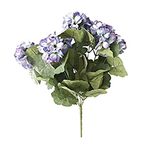 Silk Flower Arrangements Artificial and Dried Flower 1 Bunch of Seven-Headed Artificial Simulation Begonia Bouquet Home Decor Wedding Display Party Valentine's Day Flower - ( Color: Blue)