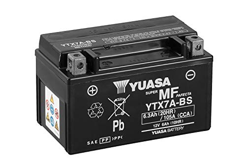 YUASA BATTERIE YTX7A-BS AGM offen mit Saeurepack