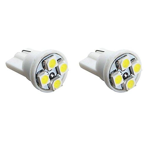 T104W - Blanco SMD LED lámpara bombilla de repuesto luces de posición W5W T10 12V Numero de luz de la placa Interior de luz del coche 4xSMD LED