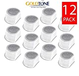 GoldTone Brand Replacement Pet Fountain Water Filters Compatible with Drinkwell Avalon, Drinkwell Pagoda & Drinkwell Sedona Pet Fountains (12 Pack)