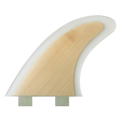 Aleta de fibra de vidrio para tabla de surf HexCore, juego de 3 piezas, compatible con FCS