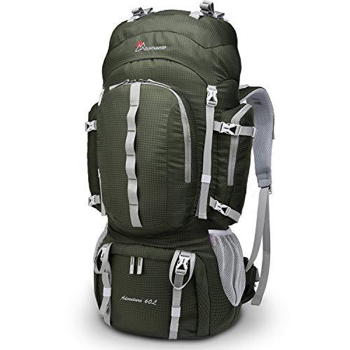 MOUNTAINTOP 55L/65L Mochila Trekking Hombre Mujer Mochila de Senderismo Gran Capacidad Mochilas de Montaña con Cubierta de Lluvia para Escalada Viaje Acampadas