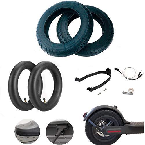EWheel | Kit de Ruedas de 10 Pulgadas Wanda para Xiaomi M365, 1S, Essential, Pro y Pro2 | Con soporte refuerzo para guardabarros (Con soporte para M365/Pro)