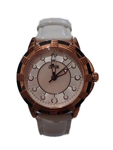 Reloj Lotus de señora de Piel y Esfera rosé de 38 mm. W.R. 5 ATM