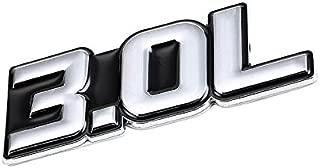 UrMarketOutlet 3.0L Black/Chrome Aluminum Alloy Auto Trunk Door Fender Bumper Badge Decal Emblem Adhesive Tape Sticker