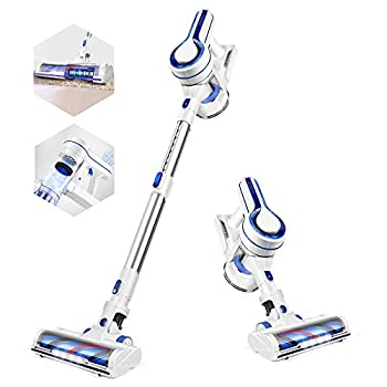 APOSEN Cordless Vacuum Cleaner Powerful Suction Stick Vacuum Cleaner 4 in 1 with Rechargeable Battery and 1.2L Large Dust Container Vacuum for Hard Wood Tile Floor Pet Hair