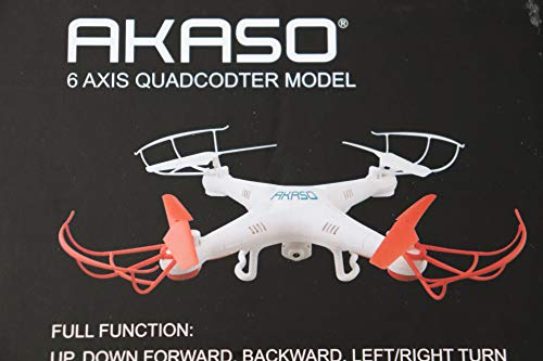 Akaso X5C 4CH 2.4GHz 6-Axis Gyro Headless RC Quadcopter with HD Camera, 360-degree 3D Rolling Mode RC Drone (Bonus MicroSD card & Blades Propellers included) by Akaso