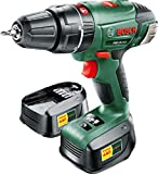 Bosch 0603982371 PSB 18 LI-2 Cordless Combi Drill with Two 18 V 2.0 Ah Lithium-Ion Batteries, Green