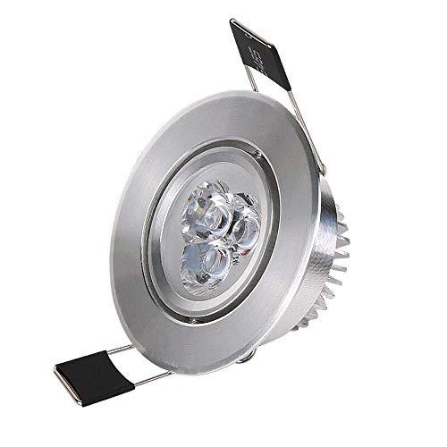 LED kleine spotlight plafond woonkamer 3W plafondlamp 6 cm 5-gaats downlight Showcase light mini-wijn-airco licht warm licht opening: 55-60mm (kleur: wit licht) lsmaa