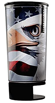 Spit Bud Portable Spittoon Bottle - Cupholder Friendly - Spill Resistant - Built In Can Opener and Holder - American Eagle by Spit Bud