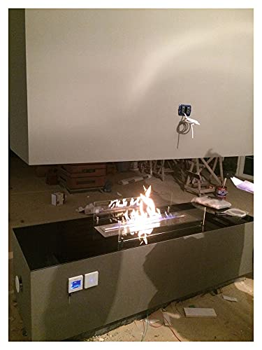 Till salu 72L Smart Remote Control Ethanol Fireplace Burner (Color : Silver, Function : With wifi)