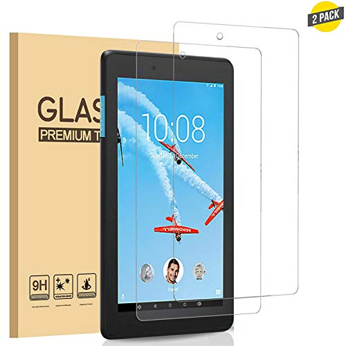 [2 Pack] for Lenovo Tab E8 (2018 Released) Screen Protector, Premium 9H Hardness HD Tempered Glass Film for Lenovo Tab E 8 inches Tablet [Crystal Clear] [Bubble Free]