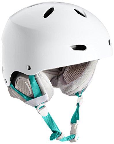 Bern Damen Ski/Snowboardhelm Brighton Women'dünne Schale Winter Helm Boa Einsatz, Satin, Weiß/Grau, M/L