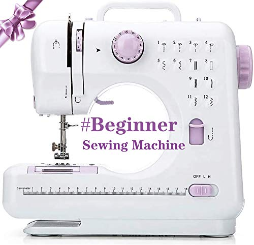 Kytree® Beginner Electric Overlock Sewing Machine,12 Stitches 2 Speeds with Foot Pedal Small Household Portable mini sewing machine For Fabric, Clothing, Childrens Cloth,Family Travel Use