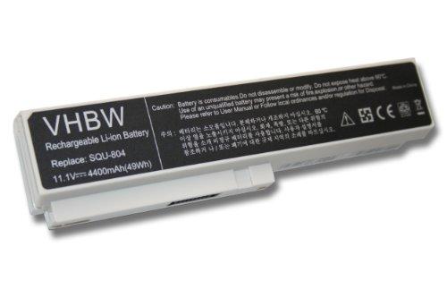 batterie LI-ION 4400mAh 11.1V, blanc, pour FUJITSU-SIEMENS, Gigabyte, Gericom, LG etc. remplace SQU-804, SQU-805, SQU-807