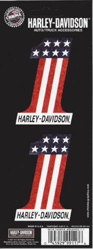 Harley Davidson #1 American Flag Decal