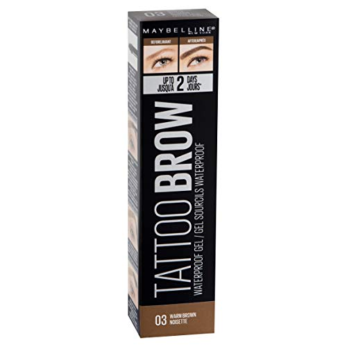 Maybelline New York Tattoo Brow Gel Tinte de Cejas 2 Días tono 03 Warm Brown Castaño - 5 ml