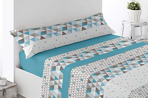 Energy Colors Textil - Hogar - Poland - Juego Sábanas Térmicas Tipo Pirineo Polar 3 Piezas Invierno Otoño (Aran 120 gr, 150_x_200_cm)