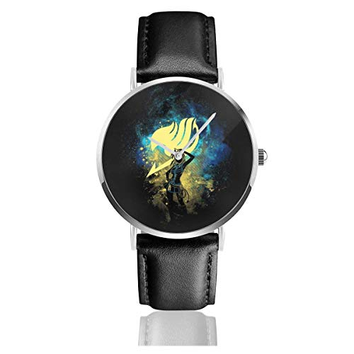 Relojes Cuarzo Cuero Banda Negra Colección Joven Regalo Unisex Business Casual Fairy Tail Lucy Heartfilla Silhouette