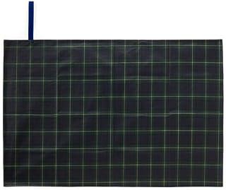 レジャーシート 60×90cm 運動会 遠足 敷物 タータンチェック・ダークグリーン N4819800