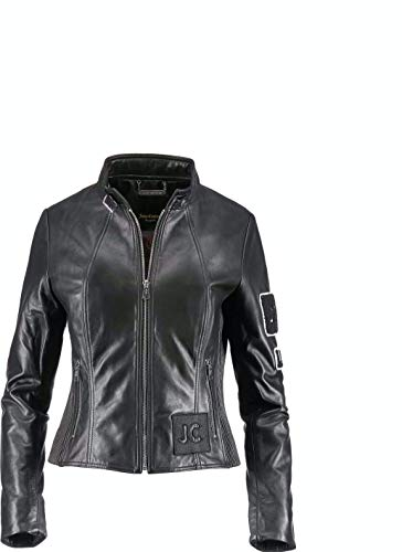 Juice Couture JC-91-116 Sylvia - Giacca in pelle con toppe Nero M
