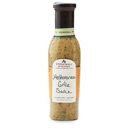 Mediterranean Grille Sauce von Stonewall Kitchen (330 ml) Gourmet-Soße mit Oliven zum Grillen für die mediterrane Küche - ideal zu Pasta, Fisch, Gemüse und Hühnchen