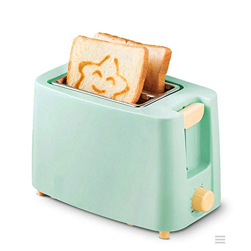 Buy JIN GUI Household 2 Slice Toaster, 220V Automatic Bread Maker Six Gear Baking Wideing Slot 360° Double-Sided Bake One-Key Anti-Sticking, for Sandwich Breakfast Waffles