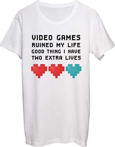 Videojuegos Ruined My Life Good Thing I Have Two Extra Lives Camiseta para hombre bnft