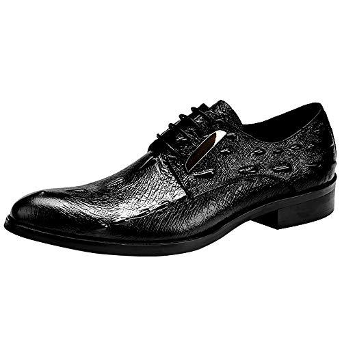FADJIKKP Zapatos de los Hombres Ligeros de Cuero, Zapatos Formales Transpirable Resistente al Desgaste, adecuados for Banquetes, Bodas, Baile, Fiestas, Oficinas (Size : 41EU)