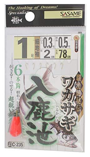 ささめ針(SASAME) C-235 ワカサギ入鹿池(細地袖) 1号
