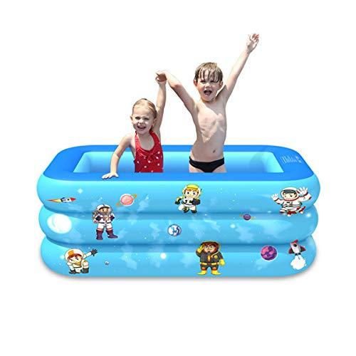 XIAOKEKE Piscina Inflable Infantil, Piscina De Agua para Niños, Material Plástico Ideal para Bebés Y Niños Y Niñas Pequeños, para Exterior, Jardín, Fiesta,130cm