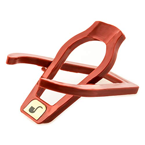 FLYBY Klappbarer Pfeifen Ständer Kompakt Tisch Halter Hochwertig Robust PVC Rot (Pfeifen Halter, PVC)