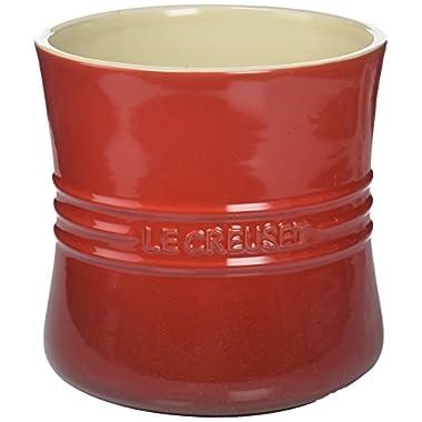 Le Creuset Stoneware 2 3/4-Quart Utensil Crock, Cerise (Cherry Red)