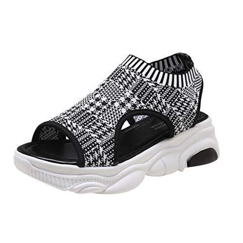 Alikeey 2019 sportschoenen, ademend, geweven, met sokken, van kant, met diepe bodem, geschikt voor voetbalschoenen