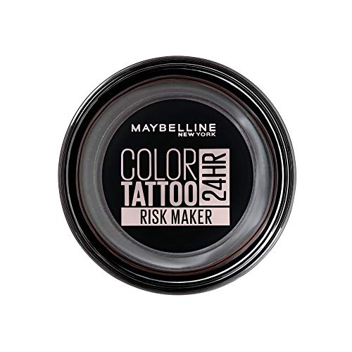 Maybelline New York Color Tattoo Crème-Gel oogschaduw, 190 risicopoeage, zwart, 53 G