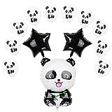 Panda Party Decoraciones, Dulce Panda Globos de Mylar para cumpleaños infantiles, set de decoración de cumpleaños para niños y niñas, para fiestas de cumpleaños, baby shower