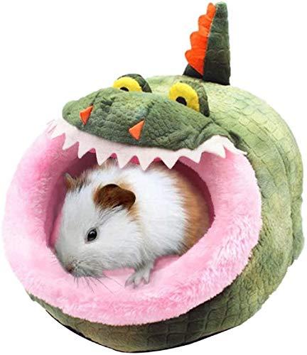 Cama para Mascota Pequeña de Felpa Formas Animales Cama Mascota para Animales Pequeños Hámster Conejo Erizo Ratón Chinchillas Cobaya Hurón (Cocodrilo, L)
