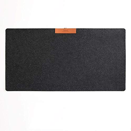 SFBBBO Mouse mat Soft Wearable Mice Pad Office Computer Desk Mat Modern Table Wool Felt Laptop Cushion Large Mouse Pad Gaming Mouse Pad Black