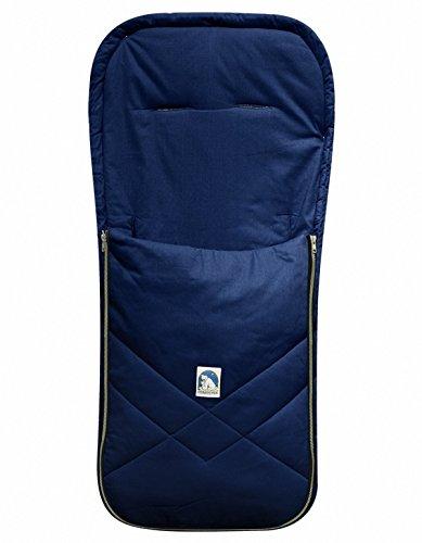 HEITMANN Baby Sommer Fußsack mit Baumwolle Marineblau, waschbar, für Kinderwagen, Buggy, ca. 94x42 cm
