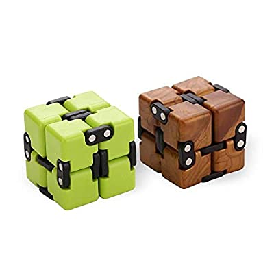 AngelarSea Mini Infinity Cube , Decompression Toy?Cool Mini Light Gadget Best for Reduce Anxiety Puzzle and Kill Time for Kids Teens Adults?2 Pack?. from Hong yi