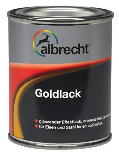 375 ml albrecht Goldlack Lösemittelhaltiger Gold-Effektlack Für Eisen und Stahl, innen und außen