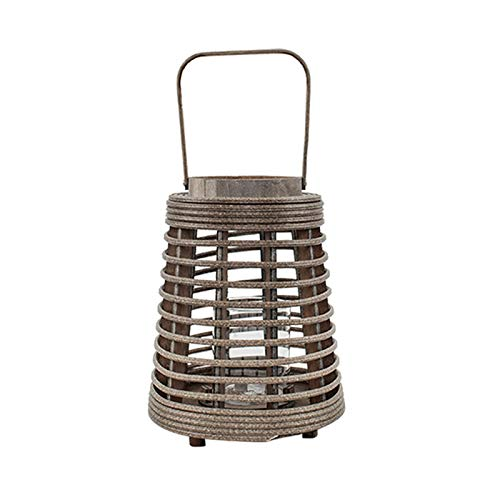 zxb-shop Candle Holder Retro Rattan Candle Holder, Creative Lantern-Shaped Candlesticks,for Christmas Table Mantle Fireplace Decoration (candle Not Included) Candlestick (Color : B)