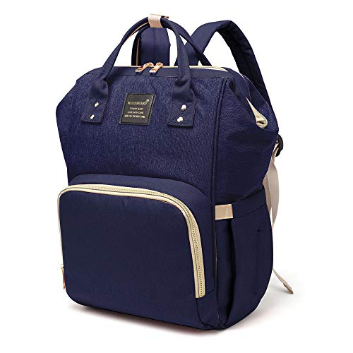 Baby Diaper Bag Multi-Function Waterproof Travel Backpack Nappy Bags for Baby Care, Large Capacity, Stylish and Durable (Navy)