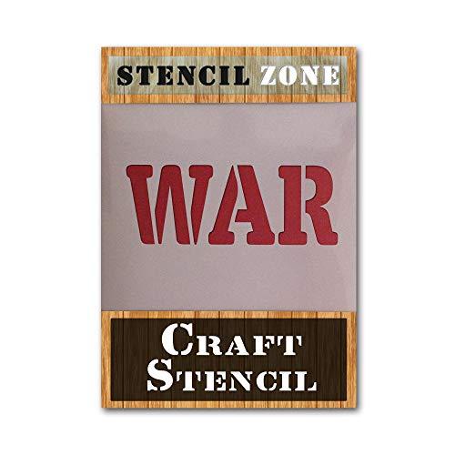 WAR Word Mylar AIRRUSH - Plantilla de pintura para pared A5 Stencil - XSmall