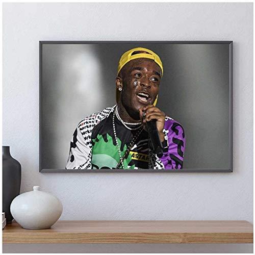 TanjunArt Lil Uzi Vert póster Impresiones Rap Hip Hop Cantante Lienzo Pintura Pared Arte imágenes decoración del hogar Sala de Estar decoración -60x80cm sin Marco
