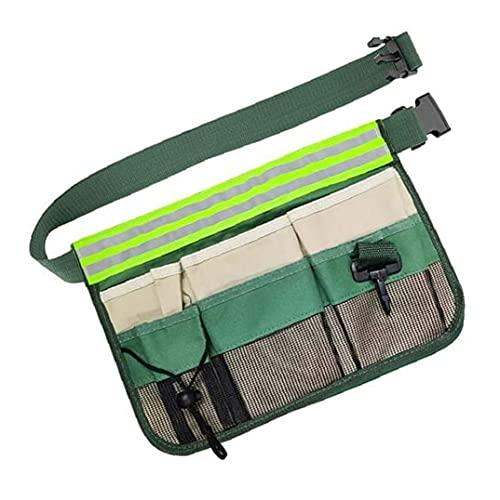 Cinturón de herramientas de jardín tela de Oxford herramienta portátil Bolsa de cintura con reflector para los carpinteros Más Constructores material durable