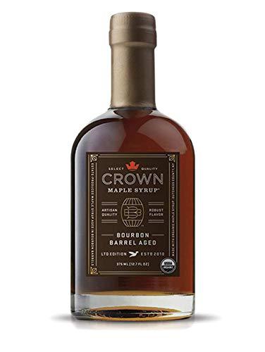 Ahornsirup - Bourbon Barrel Aged Maple Syrup von Crown Maple 250 ml - BIO-Qualität - Vegan - Glutenfrei - amerikanischer Premium Maple Syrup - der wohl reinste Ahornsirup der Welt - ideal zu Pancakes