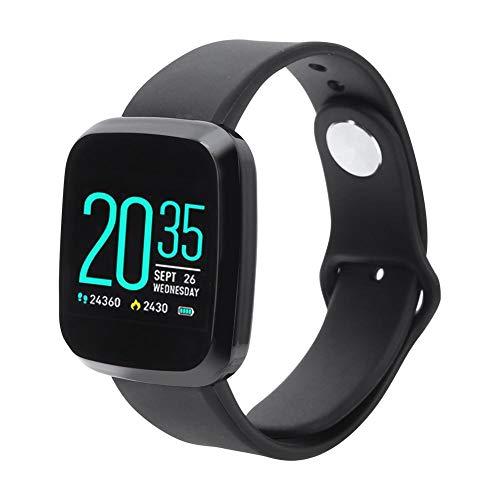 Qinlorgo Professioneller Handgelenk-Pulsoximeter-Herzfrequenzmesser - Wasserdichter Herzfrequenz-Blutdruckmesser Smart Bracelet Smartwatch Schwarz (eingebaute Batterie)
