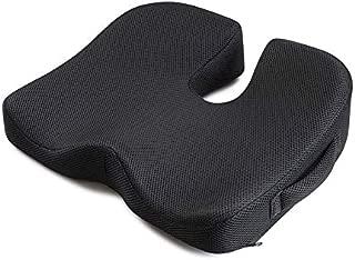 IKSTAR クッション 低反発 座布団 椅子 腰楽クッション オフィス 車用 自宅用 体圧分散 座り心地抜群 プレゼント 持ち運ぶ便利 ブラック